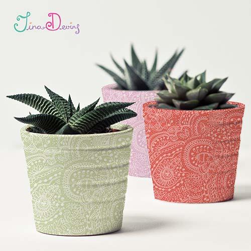 Boho Plantpots by Tina Devins