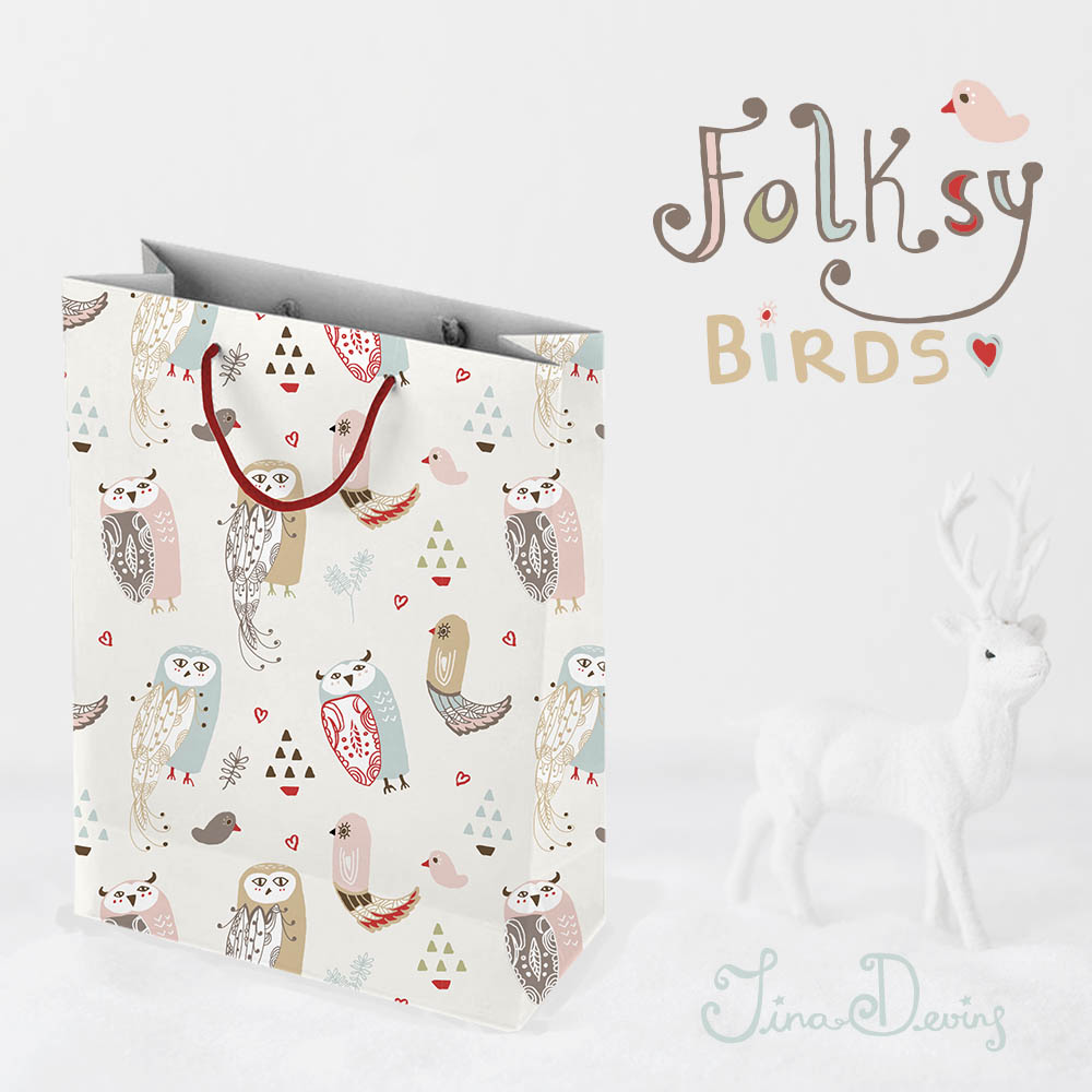 Folksy Birds by Tina Devins