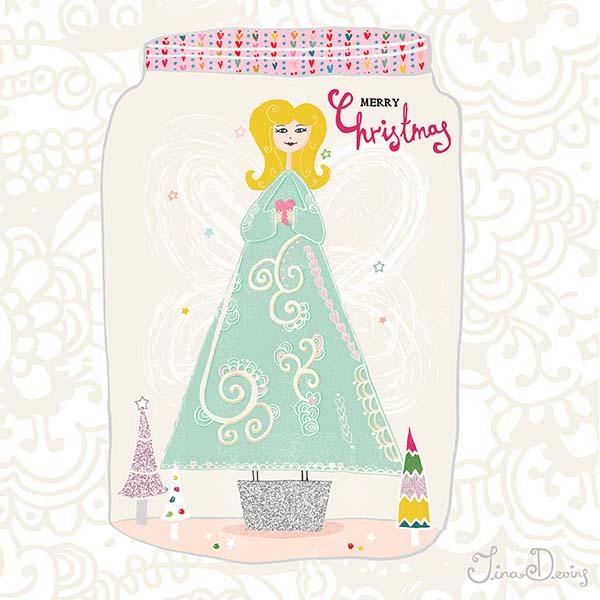 Christmas Tree Girl by Tina Devins