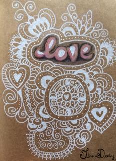 Posca Pen & Colouring Pencil Sketchbook by Tina Devins