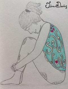 Self Love Yoga Girl by Tina Devins
