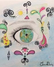 Watercolour, Pen & Pencil Sketchbook by Tina Devins