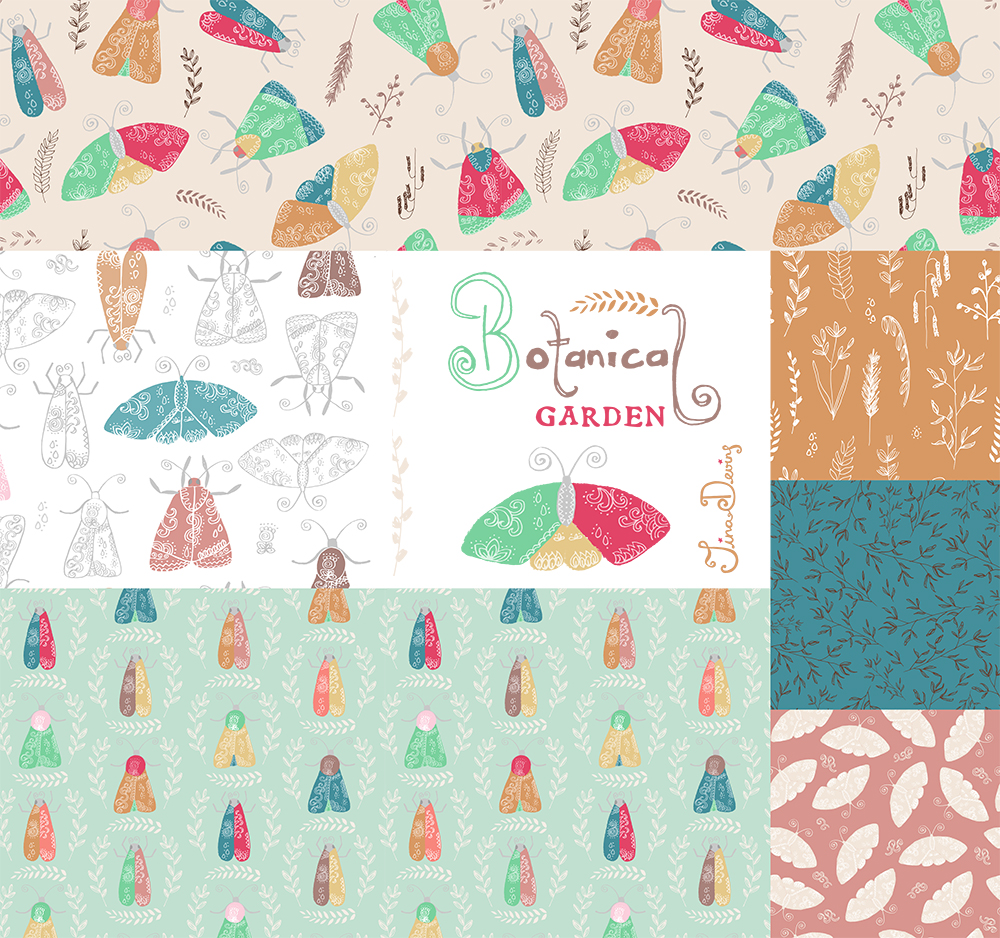 Botanical Garden Pattern Collection by Tina Devins