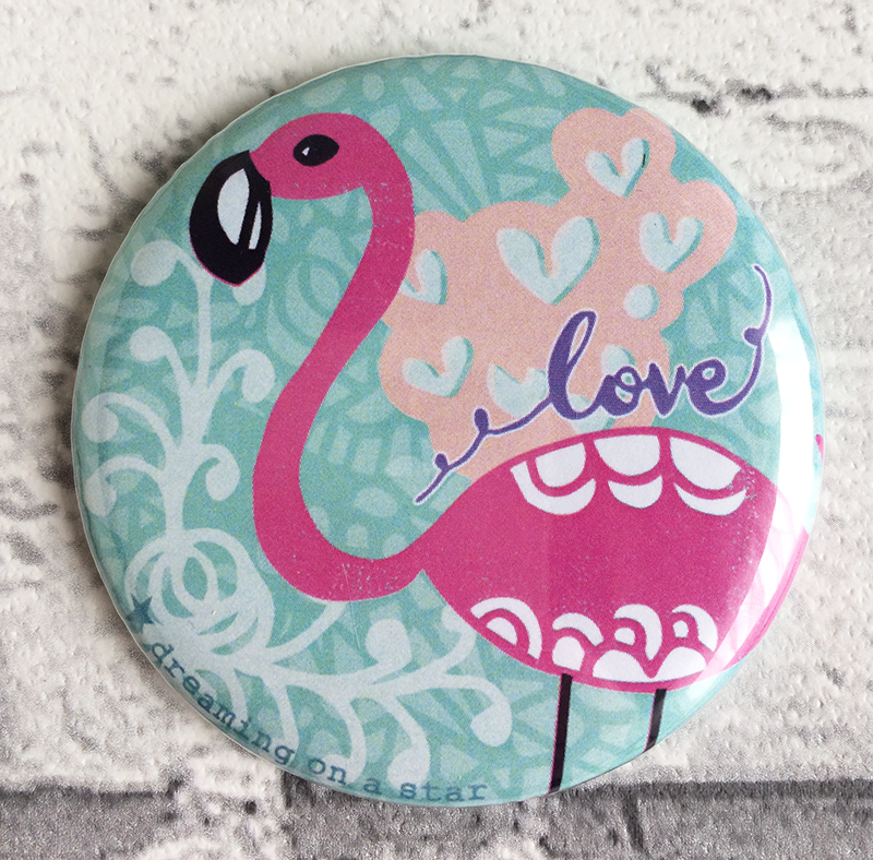 Pretty Flamingo Pocket Mirror by Tina Devins