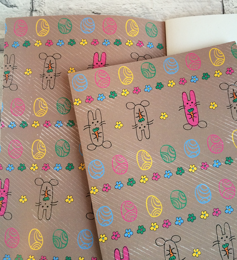 Dreaming-on-a-Star-Tina-Devins-Design-Illustration-Stationery-Notebook-Easter-Bunnies-Inside