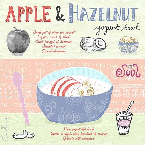 Apple & Hazelnut Yogurt Bowl Recipe by Tina Devins