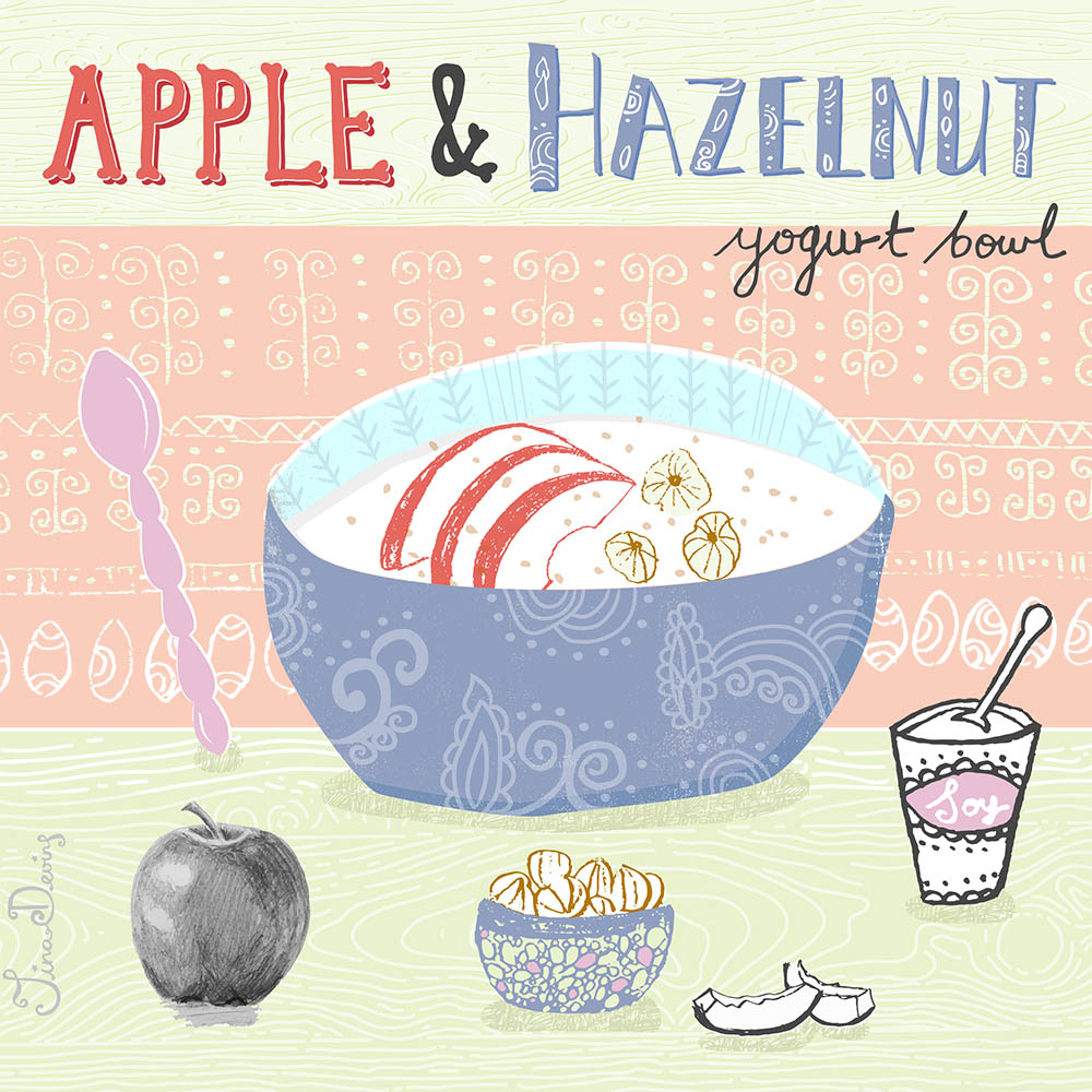 Apple & Hazelnut Yogurt Bowl Recipe by Tina Devins