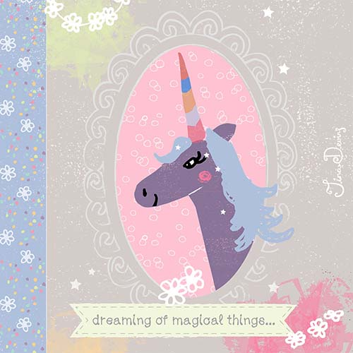 Dreaming Unicorn by Tina Devins