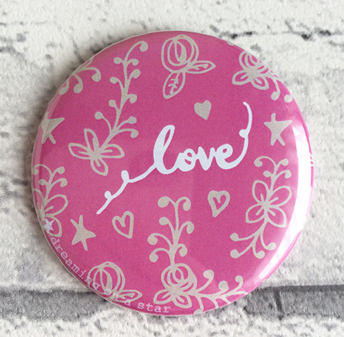 Love Pocket Mirror by Tina Devins