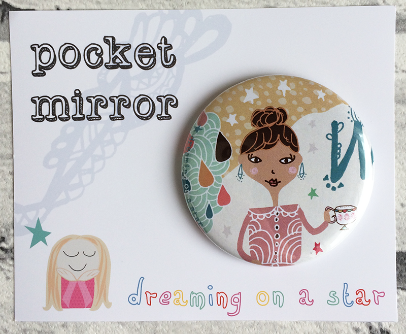 tina-devins-mirror-design-illustration-Dreaming-on-a-star-tea-girl-irish-pretty-stationery