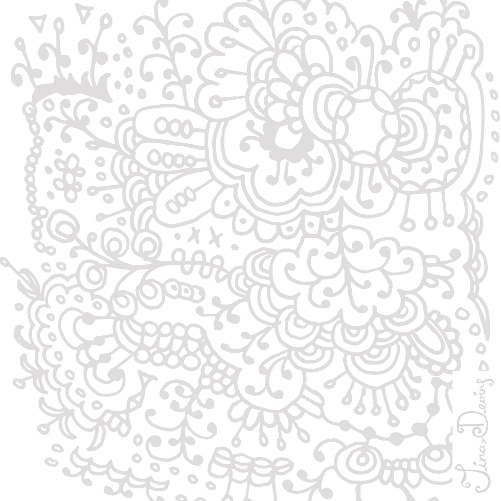 Doodle Dala Horse Pattern by Tina Devins