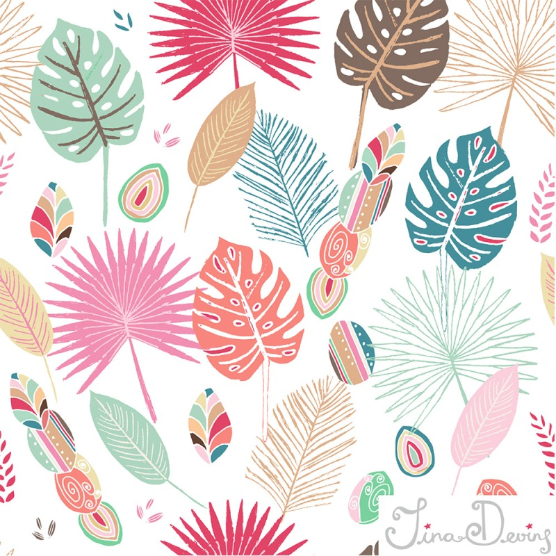 Fruity Jungle pattern by Tina Devins