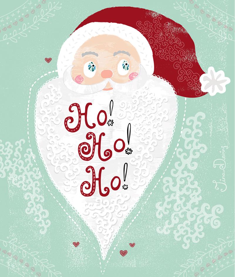 Folk Santa by Tina Devins