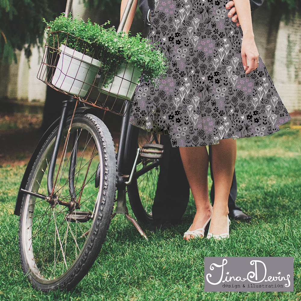 Ditsy Floral Dress by Tina Devins