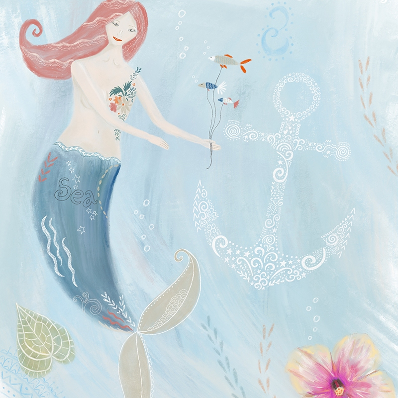 Mermaid Illustration by Tina Devins