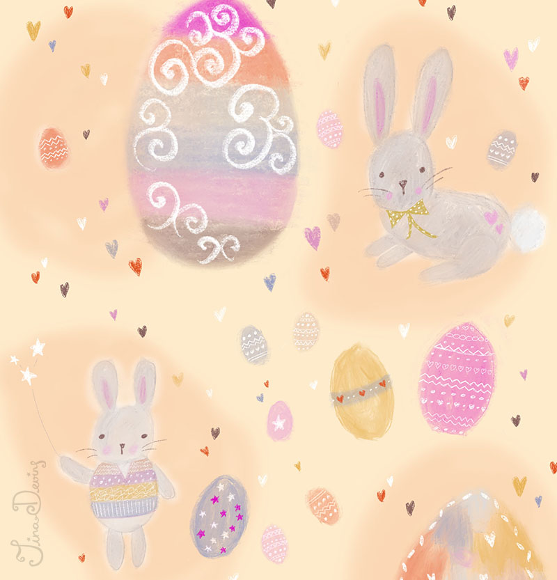 Yummy Easter Bunnies Pattern by Tina Devins
