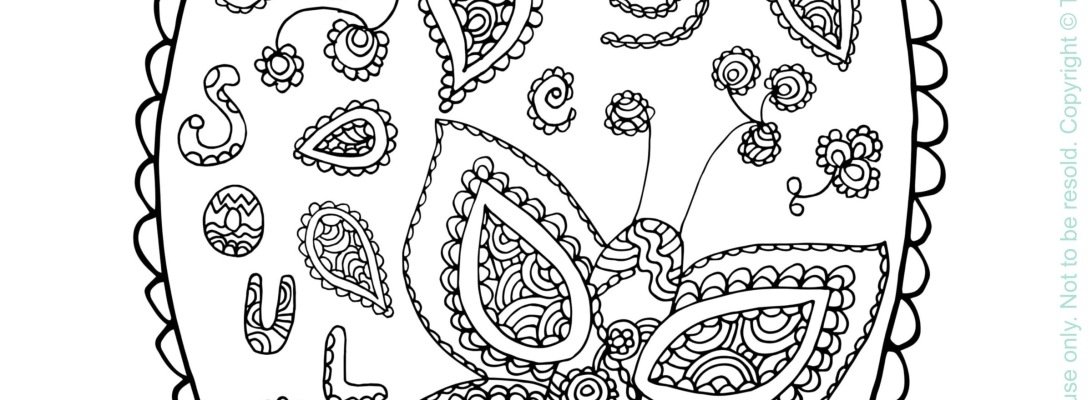 'Soul Butterflies' Colouring Page by Tina Devins