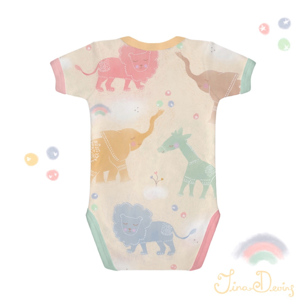 Cute Baby Animals pattern by Tina Devins