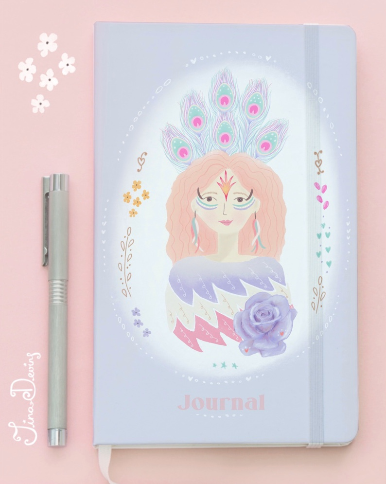 'Bird Bloom Girls' Journal by Tina Devins
