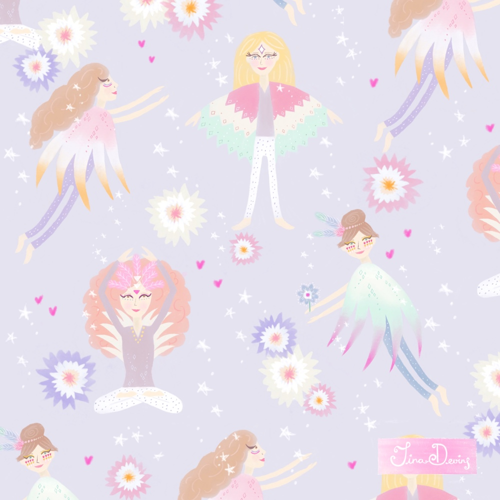 'Bird Bloom Girls' Pattern Collection by Tina Devins