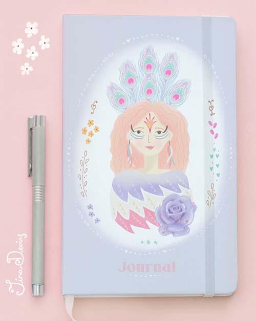 'Bird Bloom Girls' Journal by Tina Devins
